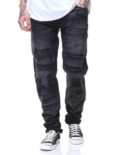 Men - Motto Patch Jeans