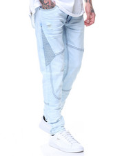 Men - Blue Mist Motto Knee Trim Jeans