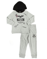 Boys - Patch Fleece Hoody & Jogger Set (4-7)