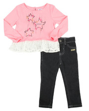 Sizes 2T-4T - Toddler - Falling Star Top 2 Piece Set (2T-4T)