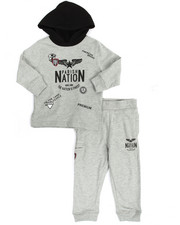 Boys - Patch Fleece Hoody & Jogger Set (2T-4T)
