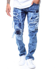 Men - 2 Layered Rip/Tear Effect Jeans