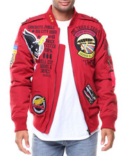 Men - Patches Bomber Jacket
