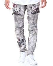 Jeans & Pants - Studded Graffiti Jeans