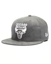 NBA, MLB, NFL Gear - 9Fifty Bulls Storm Grey Suede Snapback Hat