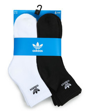 Adidas - Originals Trefoil 6Pk Quarter Socks