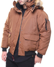 The Classic Bomber Jacket - Faux Fur Hooded Cargo Pocket Bomber Jacket