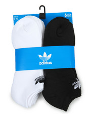 Adidas - Originals Trefoil 6Pk No Show Socks