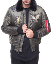 The Classic Bomber Jacket - Patched Bomber Jacket