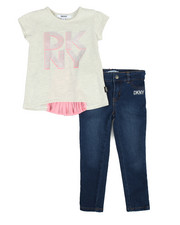 Girls - Pleated Back Top 2-Piece Set (4-6X)