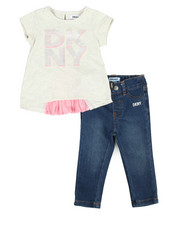 Girls - Pleated Back Top 2 Piece Set (Infant)