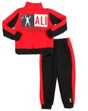 Boys - 2 Piece Zip Tricot Jacket Long Set (4-7)