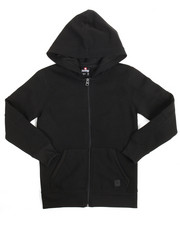 Boys - L/S Biker Full Zip Fleece Hoodie (8-20)