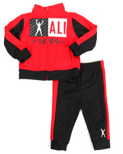 Sets - 2 Piece Zip Tricot Jacket Long Set (12M-24M)