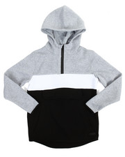 Boys - L/S Anorak Color Block Pullover Fleece Hoodie (8-20)