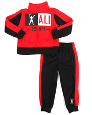 Boys - 2 Piece Zip Tricot Jacket Long Set (2T-4T)