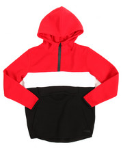 Cyber Monday Deals - L/S Anorak Color Block Pullover Fleece Hoodie (8-20)