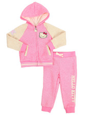 Sizes 2T-4T - Toddler - Marled Fleece Active Long Set (2T-4T)