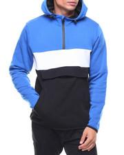 Men - Fleece Color Block Hoodie
