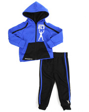 Cyber Monday Deals - 2 Piece Zip Hooded Tricot Jacket Long Set (2T-4T)