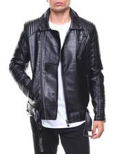 Light Jackets - Vegan Leather Moto Jacket