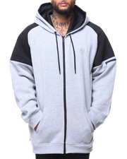 Light Jackets - L/S Allen Moto Fleece Hoodie (B&T)