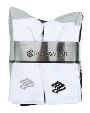 Rocawear - 6 Pack Crew Half Cushioned Socks