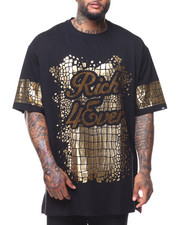 Buyers Picks - S/S Rich Forever Foil Print Rhinestone Tee (B&T)