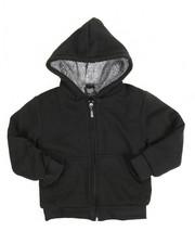 Hoodies - Solid Sherpa Lined Full Zip Hoodie (4-7)