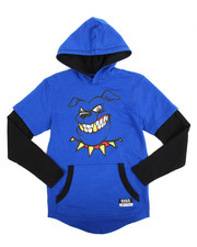 T-Shirts - 2-Fer Character Hooded Tee (8-20)-2144097