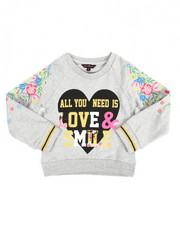 Tops - Glitter Print L/S Sweatshirt (4-6X)