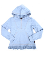 Girls - L/S Zip Up Chambray Hoody (7-16)