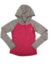 Girls - Long Sleeve Hooded Raglan T-Shirt (7-16)