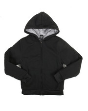 Hoodies - Solid Sherpa Lined Full Zip Hoodie (8-20)