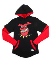 T-Shirts - 2-Fer Character Hooded Tee (8-20)-2144102