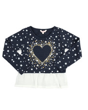 Fashion Tops - L/S Foil Print Hacci Shirt (4-6X)