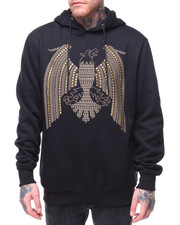 Black Friday Deals - Studs & Stones Eagle Pattern Pullover Hoodie