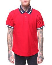 Shirts - Embrd Collar W/ Printed Collar Regal Polo