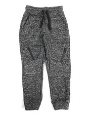 Bottoms - Marled French Terry Moto Jogger (8-20)