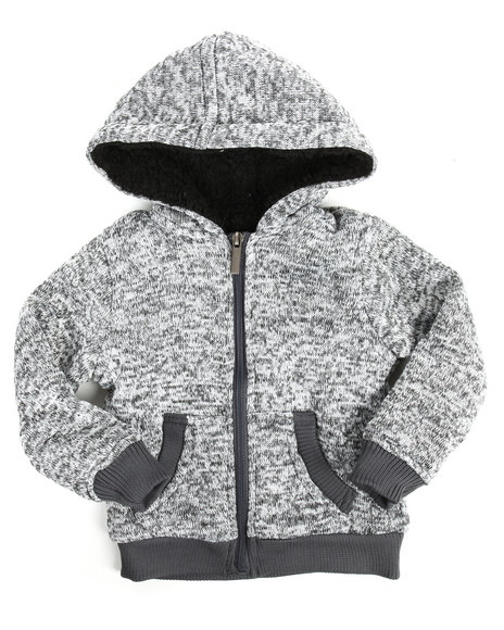 Arcade Styles - Basic Marled Fleece Full Zip Hoodie (2T-4T)