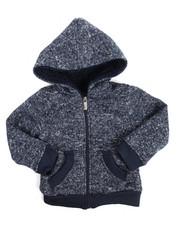 Hoodies - Basic Marled Fleece Full Zip Hoodie (2T-4T)