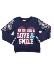 Tops - L/S Glitter Print Sweatshirt (7-16)
