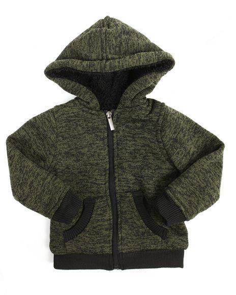 Arcade Styles - Basic Marled Fleece Full Zip Hoodie (2T-4T)