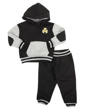 Akademiks - Elbow Patch Hoodie & Jogger Set (2T-4T)