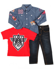 Sizes 2T-4T - Toddler - Chambray Woven, Tee & Pants Set (2-4)