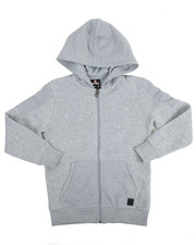 Cyber Monday Deals - L/S Biker Full Zip Fleece Hoodie (8-20)