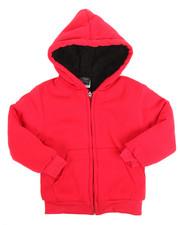Boys - Solid Sherpa Lined Full Zip Hoodie (4-7)
