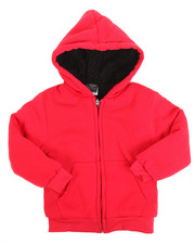 Sizes 4-7x - Kids - Solid Sherpa Lined Full Zip Hoodie (4-7)