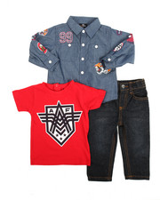 Akademiks - Chambray Woven, Tee & Pants Set (Infant)
