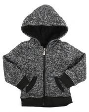 Sizes 2T-4T - Toddler - Basic Marled Fleece Full Zip Hoodie (2T-4T)